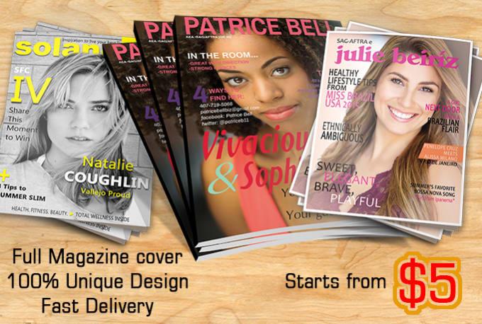Design Colorful Book Cover Or Magazine Cover