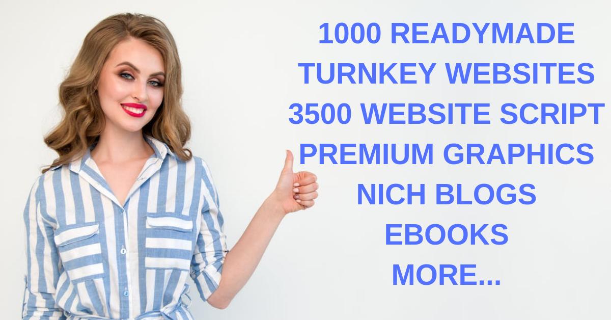 Get 1000 Turnkey Websites + 3500 Website Scripts+ Bonuses
