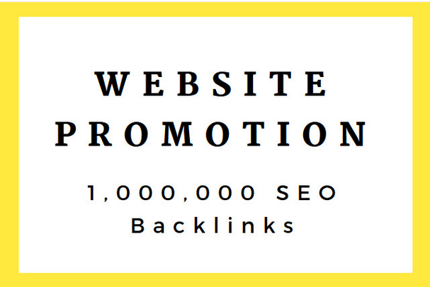 do 1 million SEO backlinks for website promotion