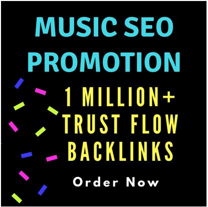 create trust flow backlinks for music SEO promotion