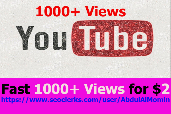 YouTube Video Promotion Via Real World Wide 1k+ User