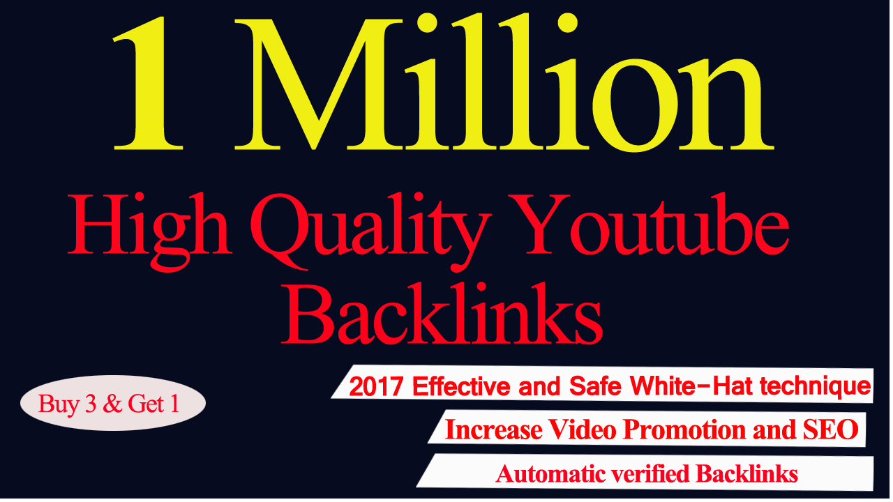 Build 1,000,000 Backlinks To Your Youtube Video Seo