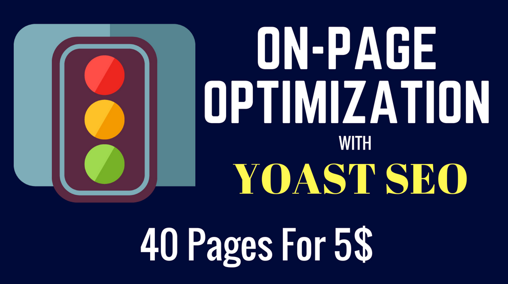 do on page SEO optimization on 40 pages with yoast