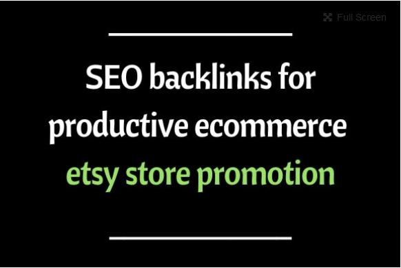 Do gsa 300k SEO backlinks for productive ecommerce etsy store promotion