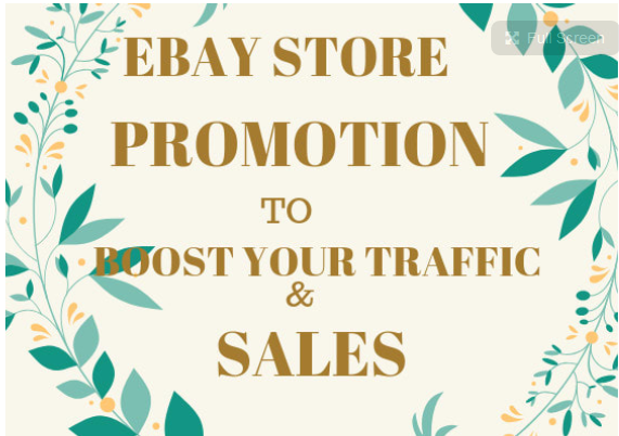 do quality promotion for your ebay store to boost ebay traffic and sales