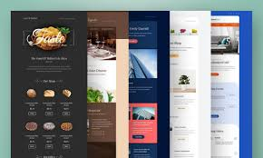 Design a email template,  one page web template,  website front-page design etc