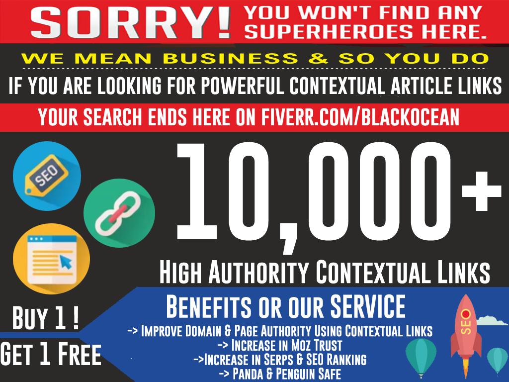 do 10,000 dofollow article contextual anchored SEO links