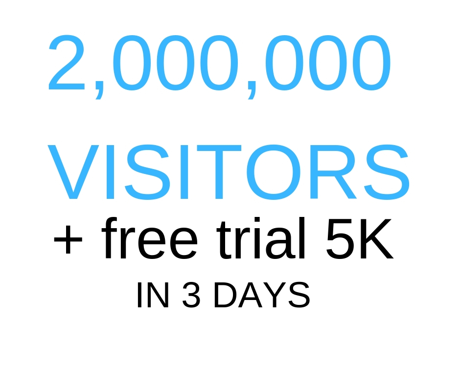 Get 2,000,000 Visitors Delivery In 3 days