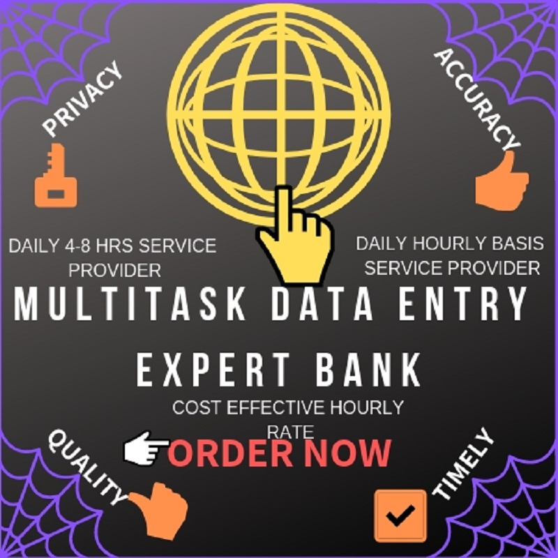 Do Multitask Data Entry Work Daily 8 hours & Per ...