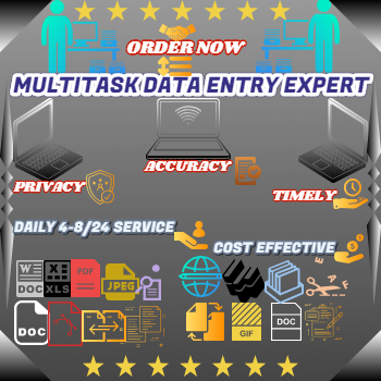 Do Multitask Data Entry Work Daily 8 hours & Per Hour @