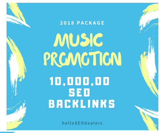 do 10,000, 00 SEO backlinks for your music seo,  promotion