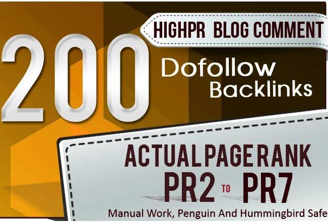 Do 200 Manual Blog Comments Da40 Backlinks
