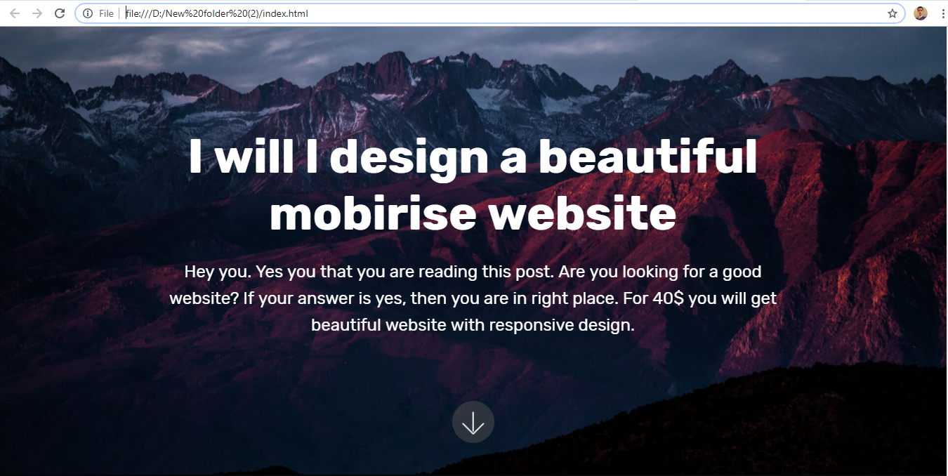 create you a beautiful Mobirise website