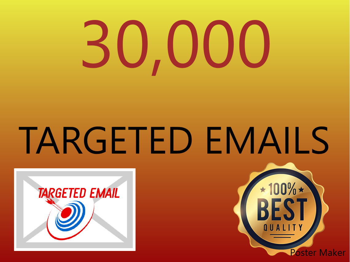 I will extract 30,000 keyword targeted emails for you