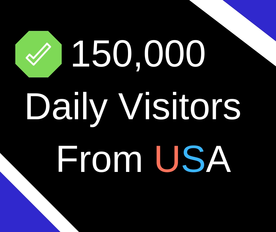 Get 150000+ visitors daily for 1 months
