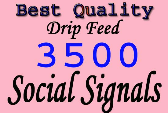 high quality manually create 2500 SEO top social signals