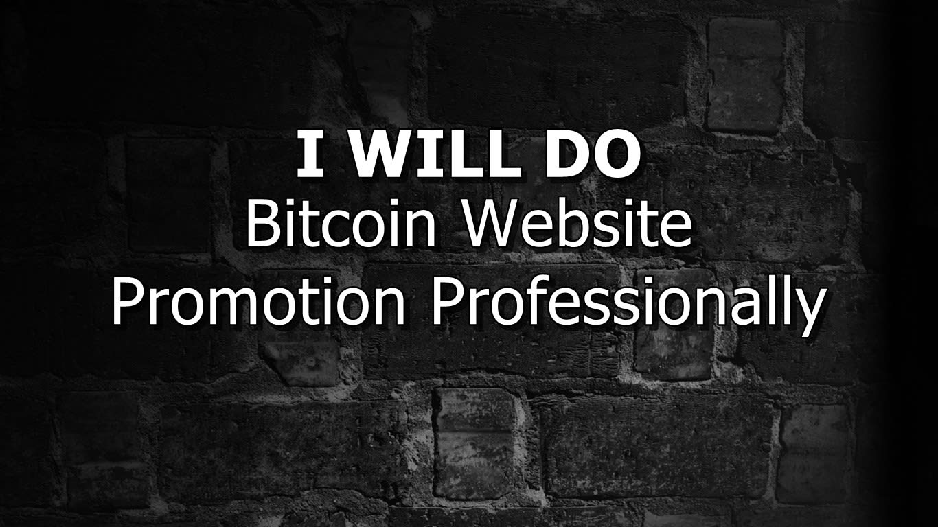 do bitcoin website promotion professionally