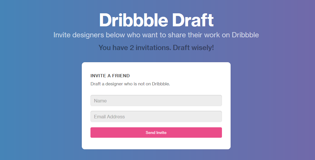 Sell Dribbble invite