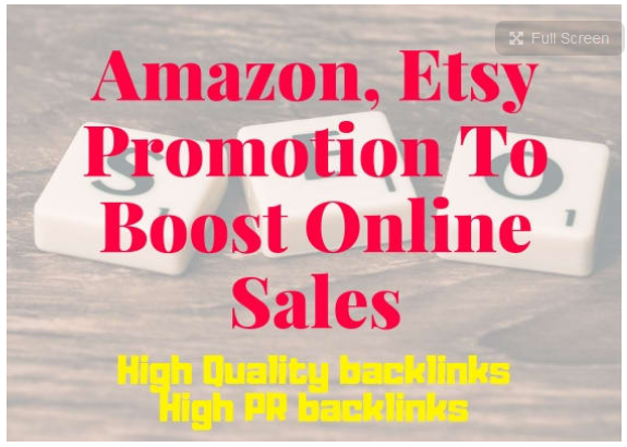 do amazon,  etsy promotion to boost your online sales