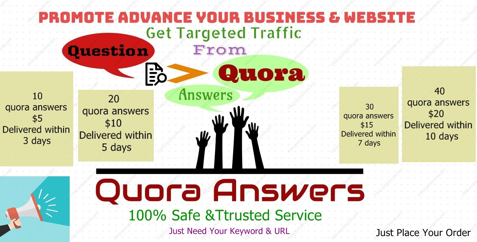Guaranteed Targeted Traffic with 10 Quora Answers