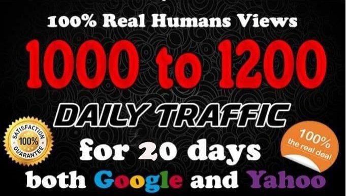 drive real web traffic