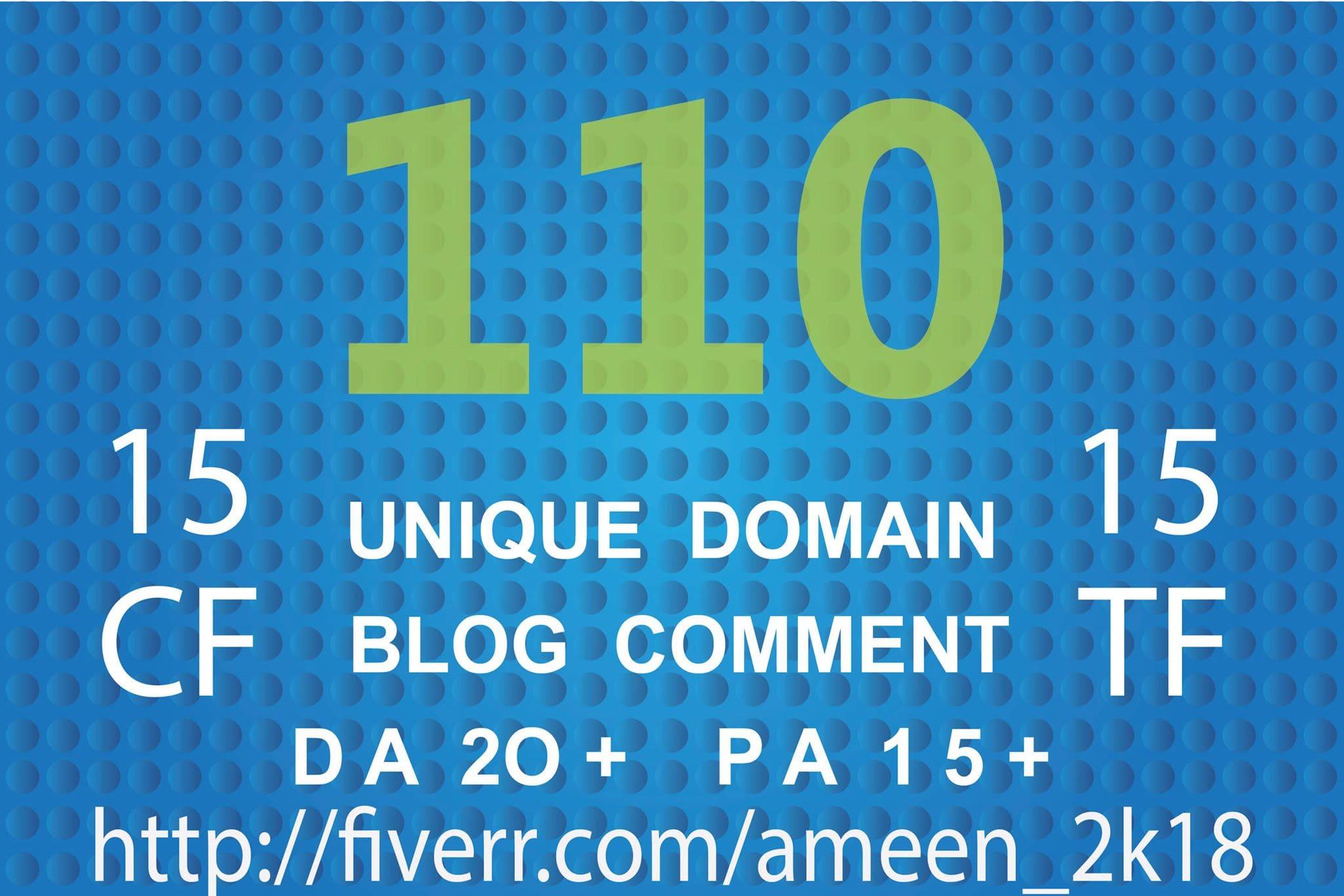 provide 110 unique domain seo dofollow backlinks