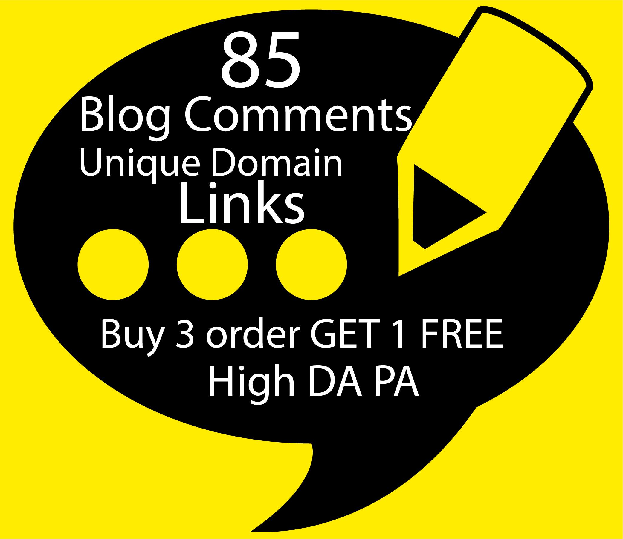 I Will Build 85 Unique Domain SEO Backlinks On High TF DA Sites
