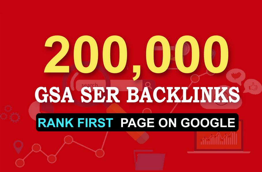 create 200k highly verified backlinks your website using gsa
