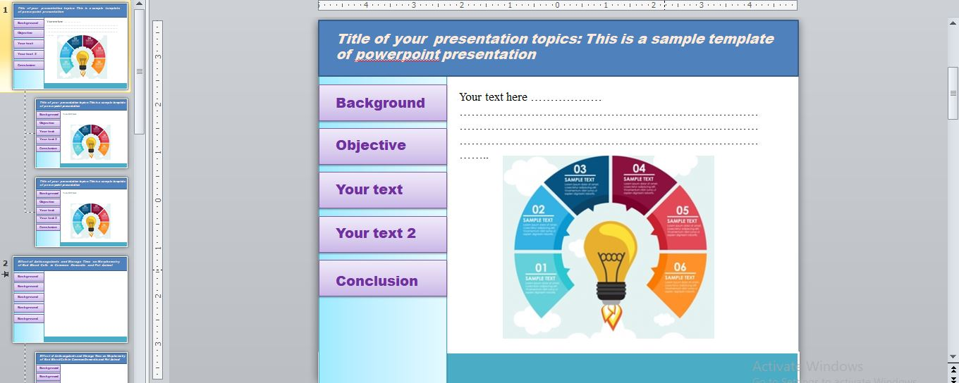 Info-graphic Powerpoint presentation for you