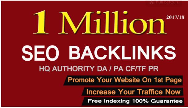 create 1,000,000 gsa, dofollow, seo backlinks for your website ranking