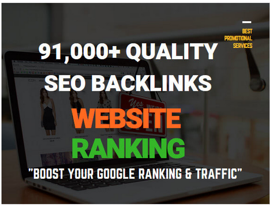 create 519,980 quality SEO backlinks for website ranking and promotion