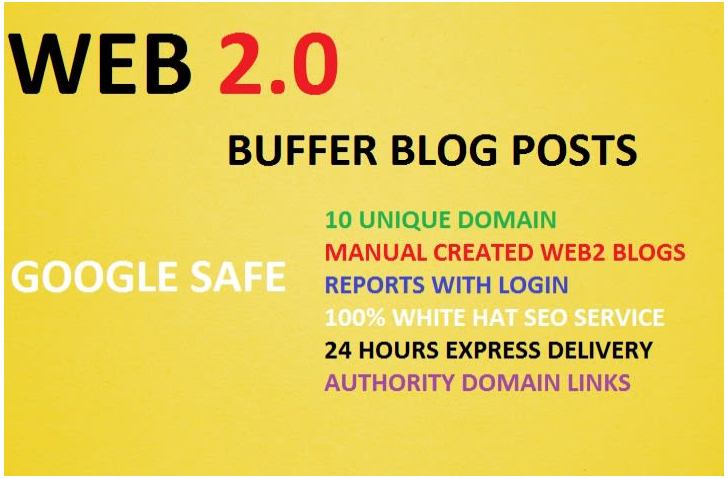 create 10 web 2 0 contextual backlinks, for seo link building