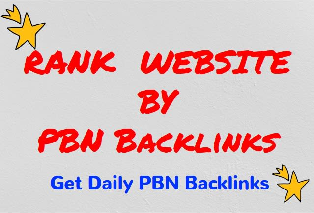 manually rank your website with pbn,  SEO backlinks for a month
