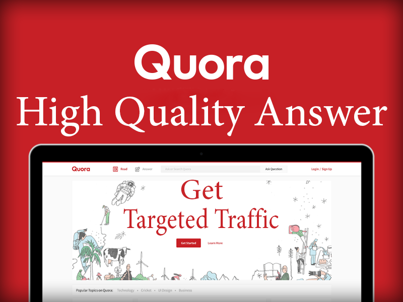 Submit your Website with 10 High quality informative Quora answer with Keyword and URL