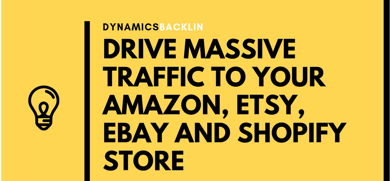 drive massive traffic to your amazon,  ebay and etsy store