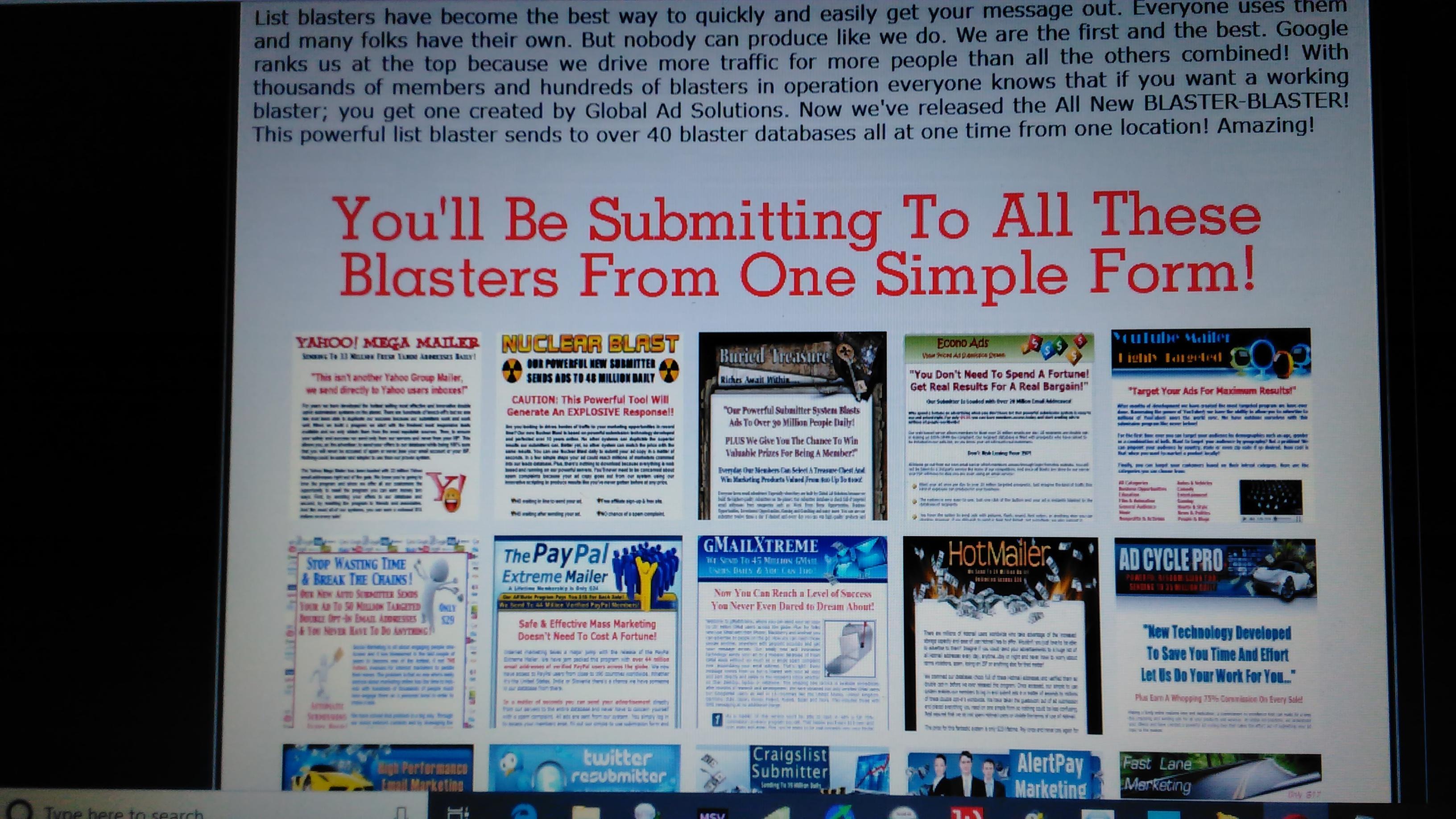 Over 100 Million Email Blaster From 40 Blast Platforms