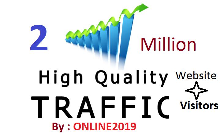 2 Million Worldwide Website Traffic Visitors For Online Marketing & Business Promotion Boost SEO Website Traffic & Share Bookmarks Improve Google Ranking Factors