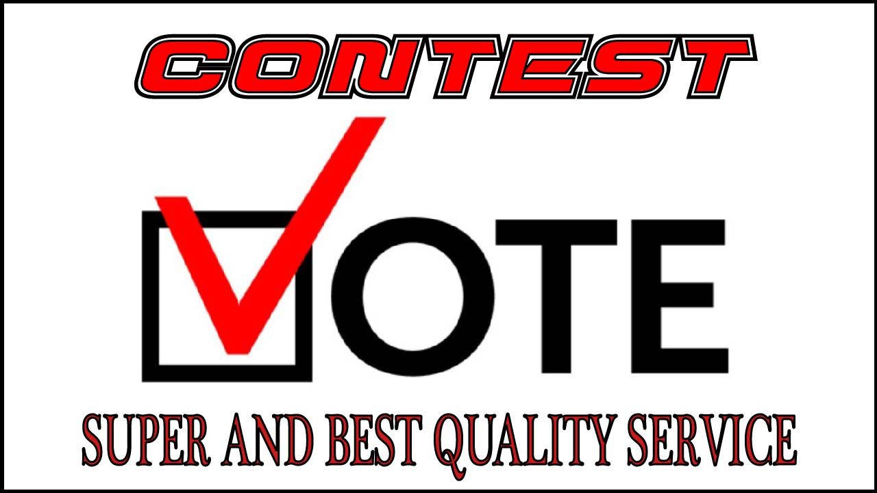 Give You 100+Real People Votes For Your Contest