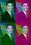 Artwork about Barack Obama in the style of Andy Warhol with right to publish