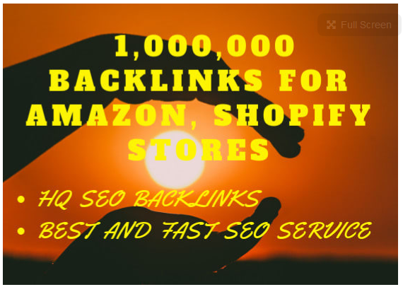 provide 1,000,000 backlinks for amazon, shopify stores