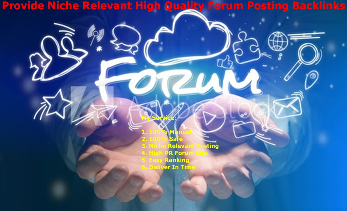 Provide Niche Relevant 20 High Quality Forum Posting Backlinks
