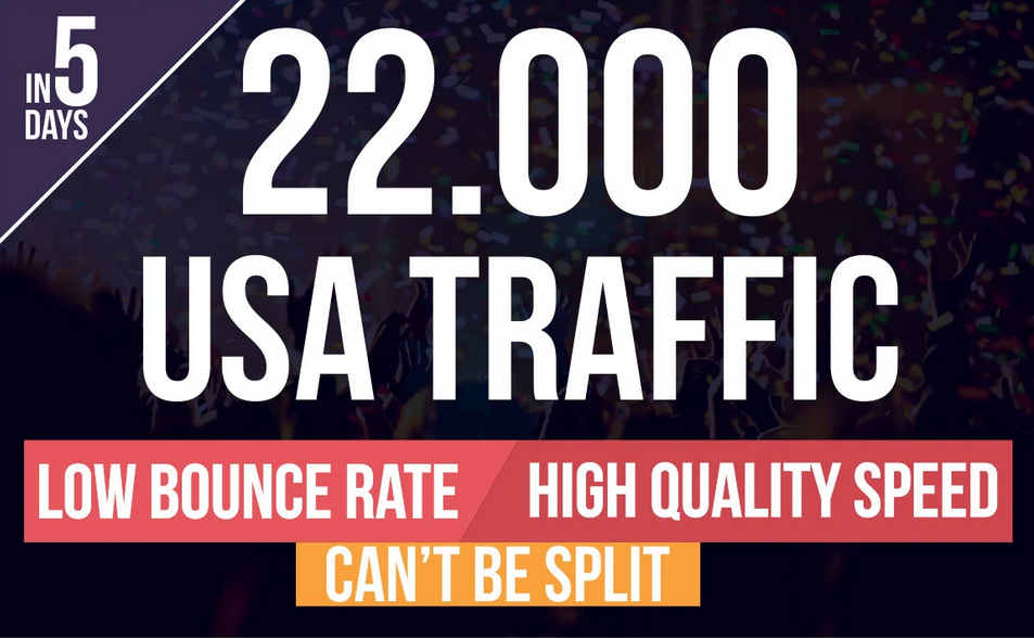 drive USA traffic,  keyword targeted website with low bounce rate