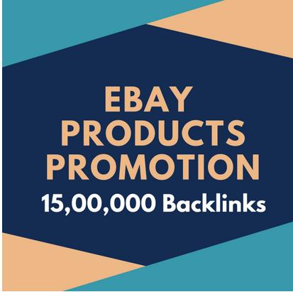Make 15, 00,000 SEO backlinks to rank higher on ebay