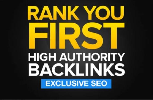 your rankings high pr links, high da backlinks