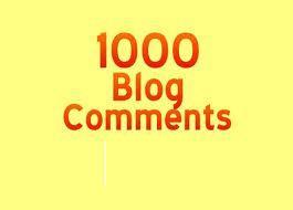 Get 1000 Backlinks for Any Website using blog comments