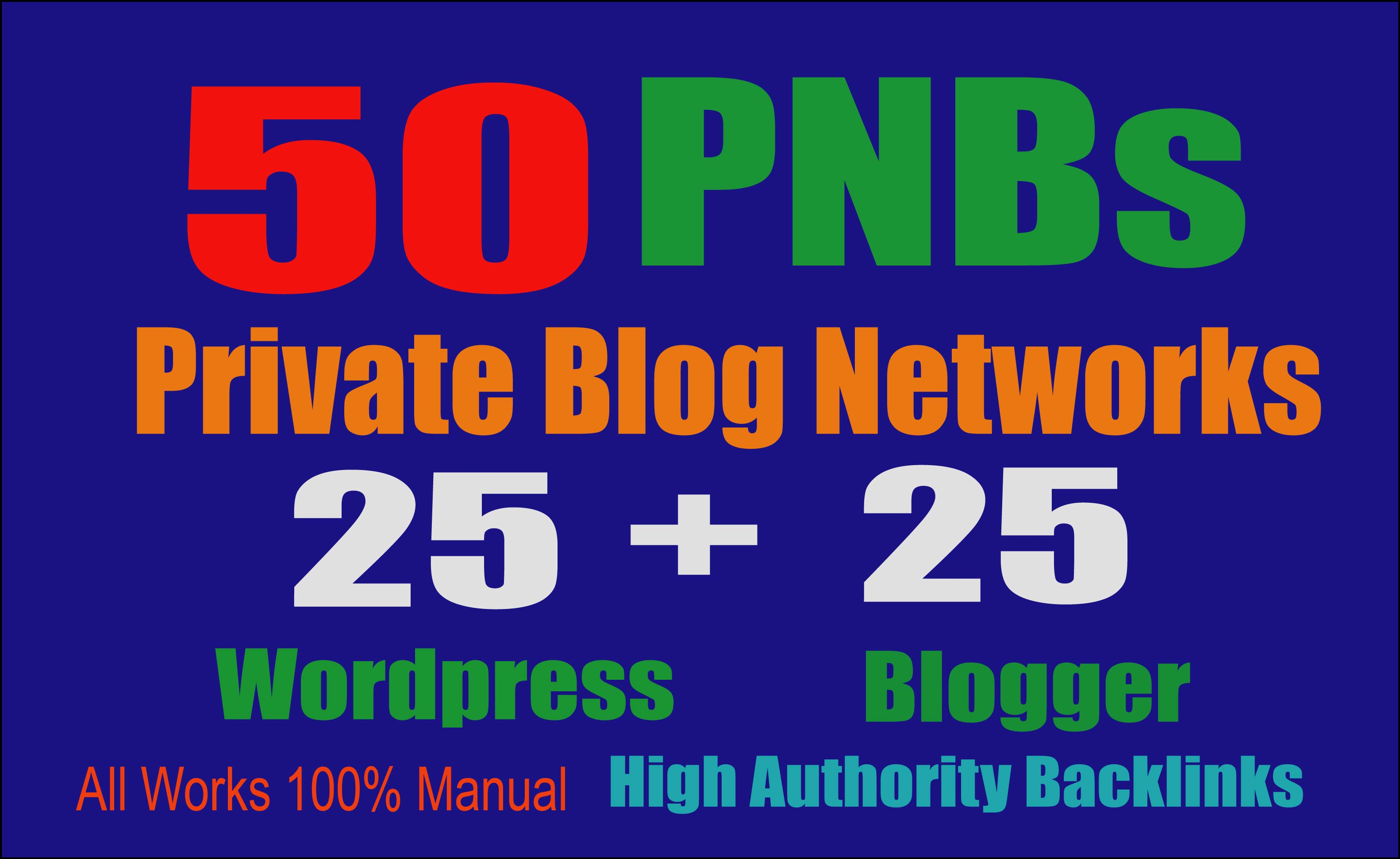 50 PBN POSTs Backlinks Wordpress And Blogger With High DA Permanent Links