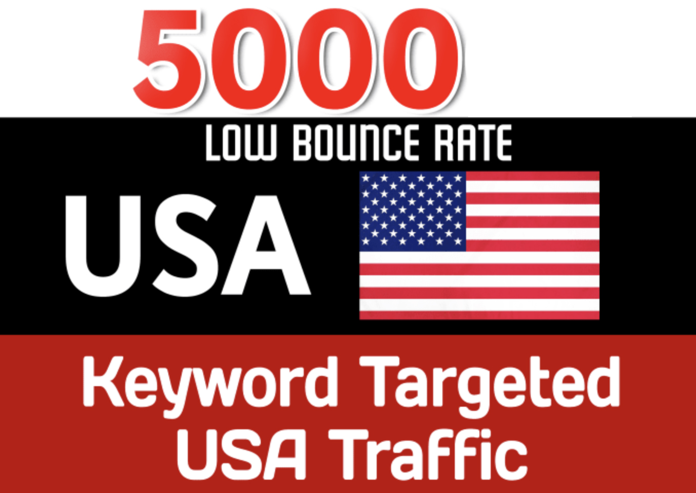 DRIVE 5.000 USA Keyword Targeted Low Bounce Rate Traffic