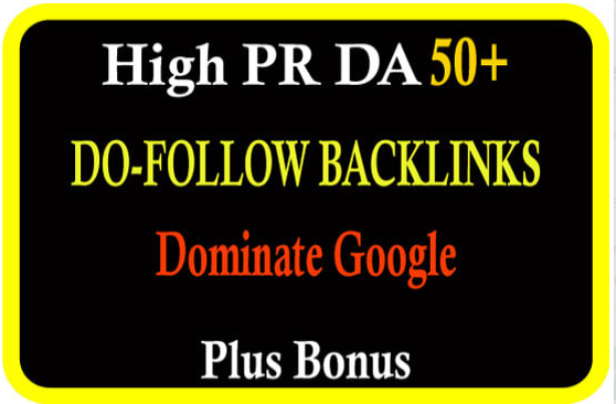 create 110 high PR dofollow seo backlinks to boost your ranking