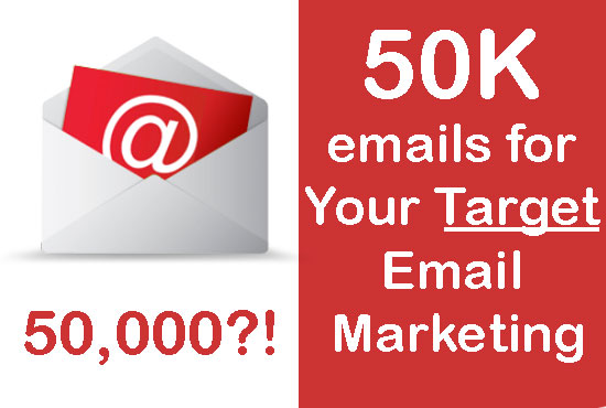 extract 50k emails for your targeted interest