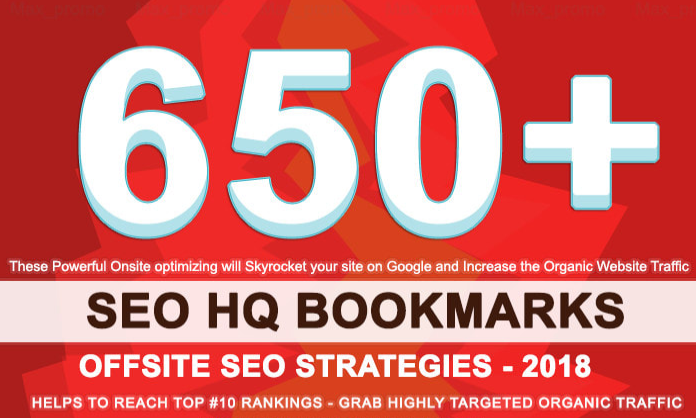 submit your website 650 dofollow SEO bookmarks backlinks